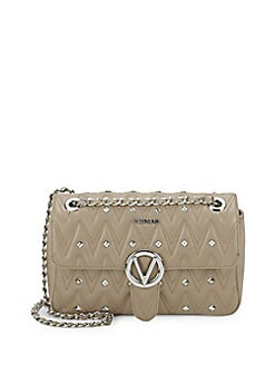 5a33ba2cf9 Valentino by Mario Valentino. Studded Leather Shoulder Bag