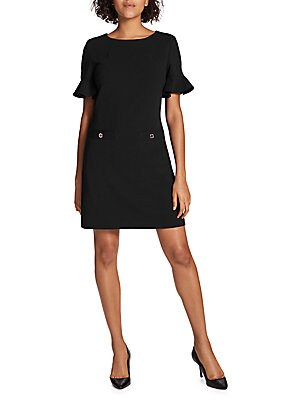 bf59c3466 Tommy Hilfiger - Flutter-Sleeve Two-Pocket Shift Dress - saksoff5th.com