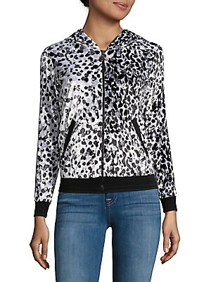 Animal-Print Novelty Jacket