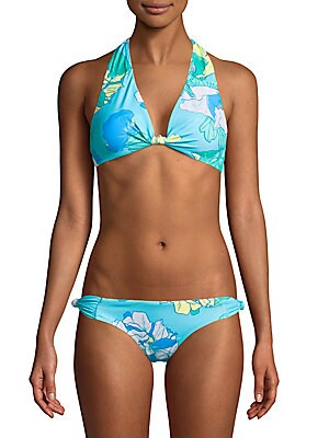 Oceanfront Floral Bikini Top