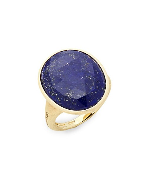 Lunaria Yellow Gold & Lapis Statement Ring