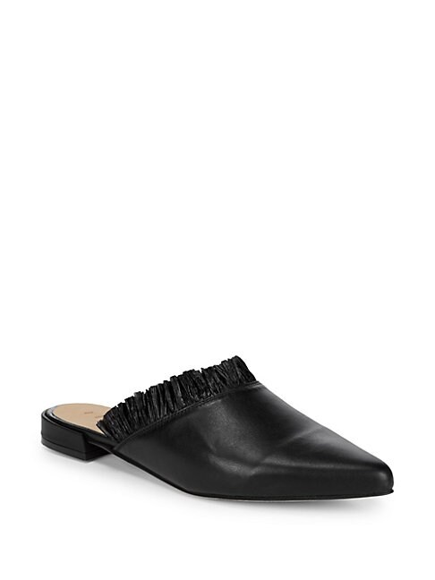 FIRTH | Leather Pointed Flat Mules | Goxip