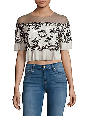 Off-Shoulder Embroidered Top