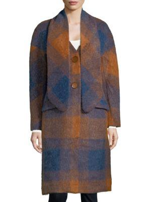 Cosette  Plaid Scarf Coat
