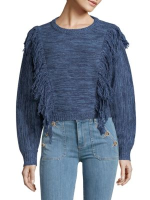 Cosette Fringed Wool Sweater
