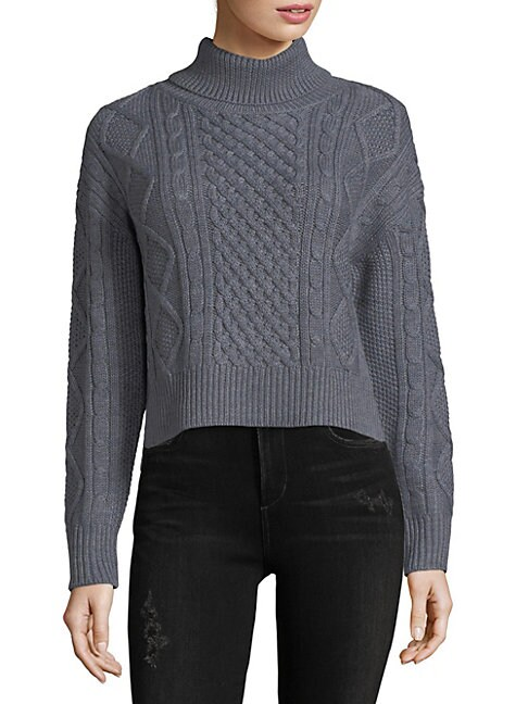 Cosette ISABEL CABLE KNIT MERINO WOOL SWEATER