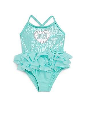 Baby Girls OnePiece Heart Swimsuit