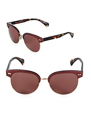 9356ba8b19 Oliver Peoples - 71st Street 51MM Square Cat Eye Sunglasses ...
