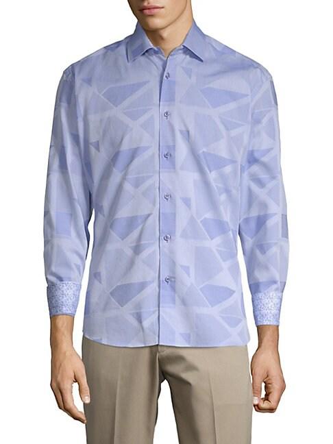 BERTIGO | Print Button-Front Shirt | Goxip