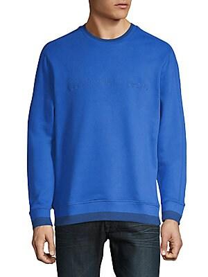 Tonal Rib Tipping Crewneck Sweatshirt