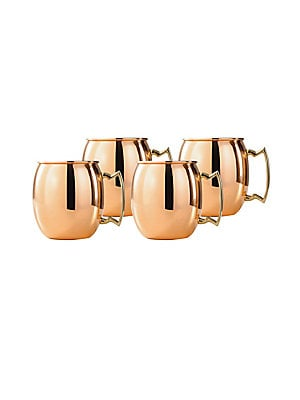 Solid Copper Moscow Mule Mug/ Set Of 4