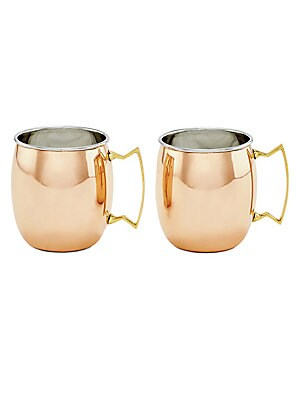 Two-Piece Two-Ply Solid Copper Moscow Mule Mug Set