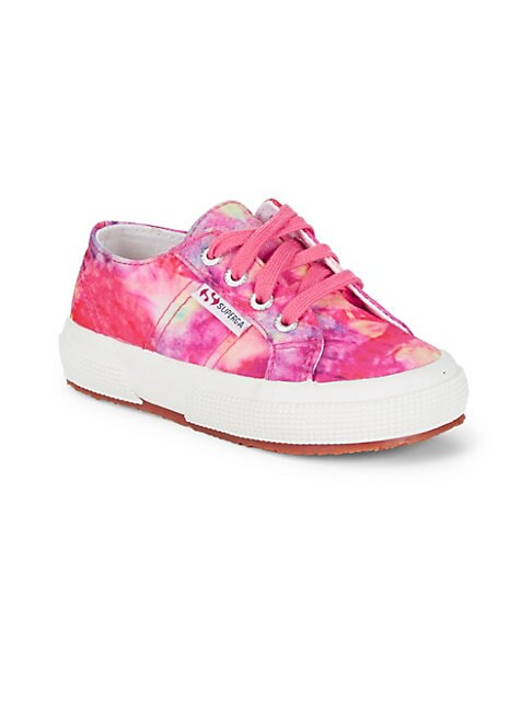 Girl's Printed Lace-Up Sneakers