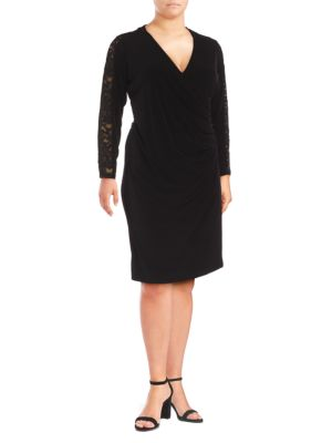 Calvin Klein Plus  LACE V-NECK SHIFT DRESS