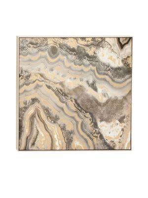 Uma Glam-Inspired Marbling Framed Canvas Art