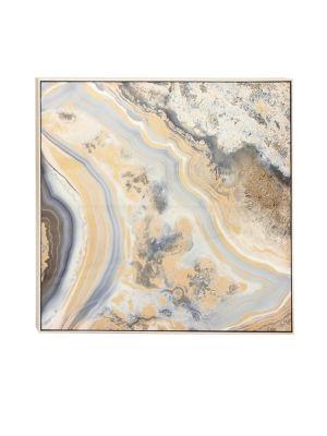 Uma Contemporary Marble Framed Canvas Art