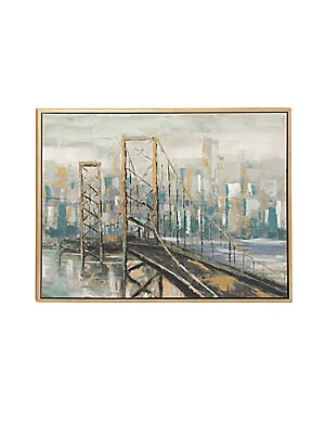 CITIES AND COUNTRIES MODERN WOOD FRAMED CITY CANVAS ART