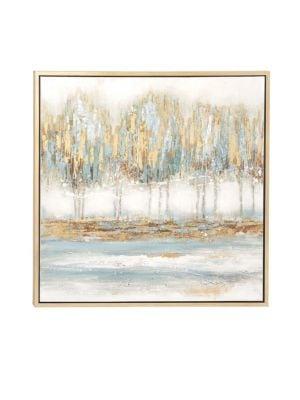 UMA Modern Abstract Forest Framed Canvas Art in Multi
