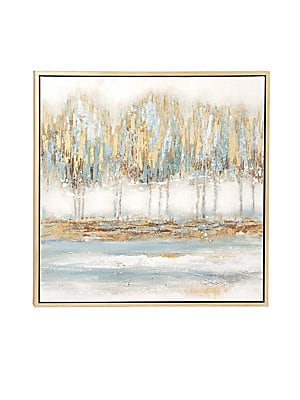 MODERN ABSTRACT FOREST FRAMED CANVAS ART
