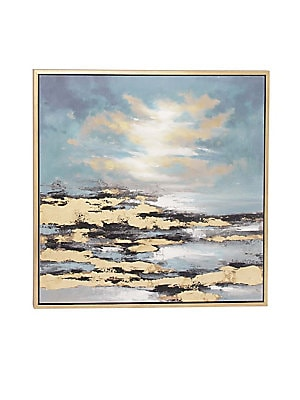 CONTEMPORARY SUNSET FRAMED CANVAS ART