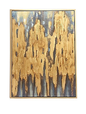 GLAM FRAMED ABSTRACT CANVAS ART