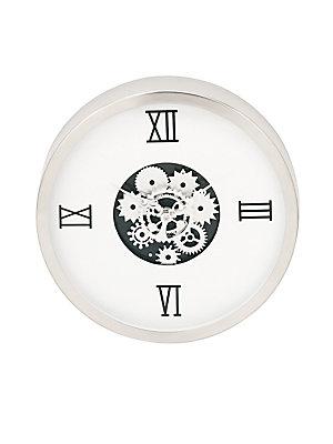UMA Medium Clocks Contemporary Geared Stainless Steel Wall Clock