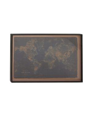 Uma MAPS TRADITIONAL WOODEN WALL WORLD MAP