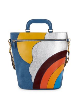 Anya Hindmarch Small Oresett Sky Print Leather Tote