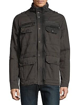 Windowpane Cotton Jacket