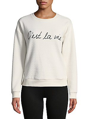 Diamond-Stitch Graphic Sweatshirt