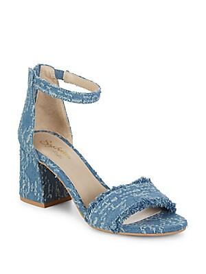 Tropical Block Heel Sandals
