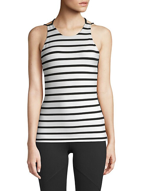 BODY LANGUAGE Whitley Strappy Tank Top in Stripe
