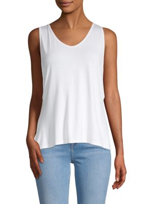 BODY LANGUAGE Vera Cut-Out Tank Top in White