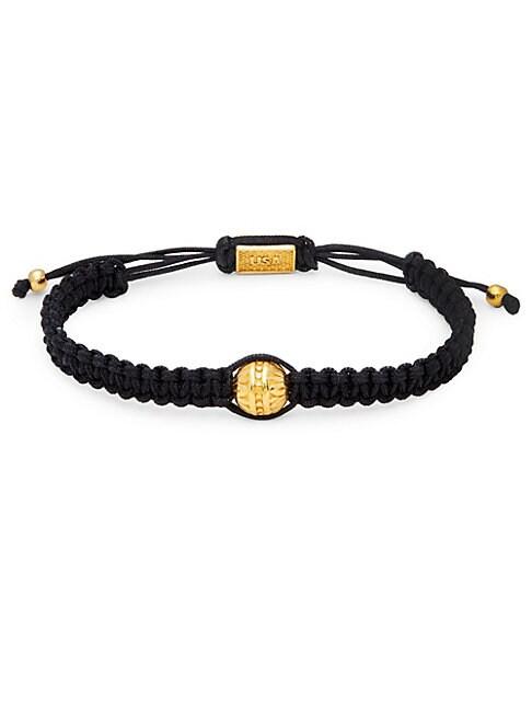 Brass Bead Macramé Bracelet