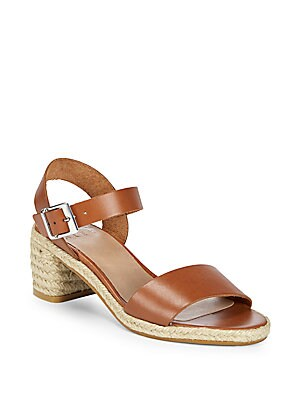 Jute Heel Leather Sandals