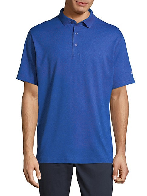 Short Sleeve Heather Surf Polo Shirt