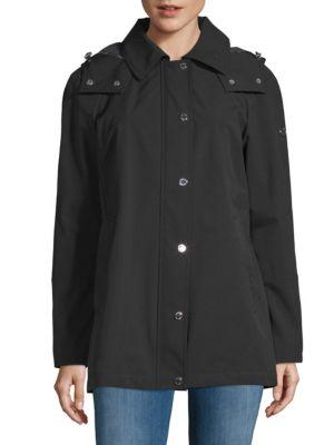 Softshell Zip Hooded Jacket, Black