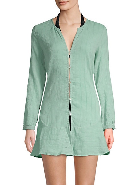 Cotton Ruffle Chemise Cover-Up