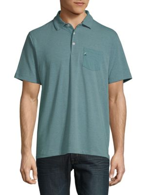 TAILOR VINTAGE Performance Buttoned Polo in Arctic Heather