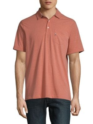 TAILOR VINTAGE Performance Buttoned Polo in Brick Dust