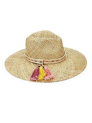 225le by alessandra female margarita tassel straw hat