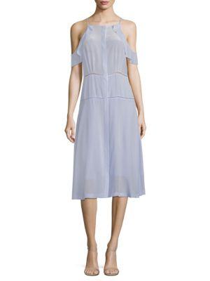 Cosette Cold-Shoulder Silk Dress