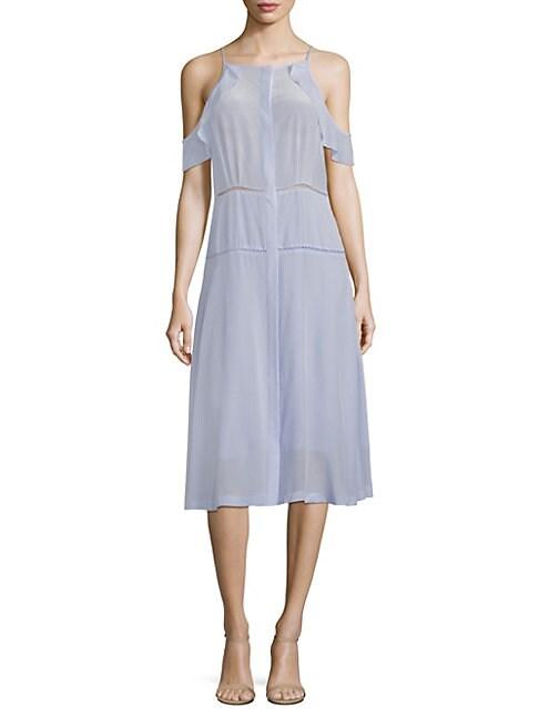 COSETTE | Cold-Shoulder Silk Dress | Goxip