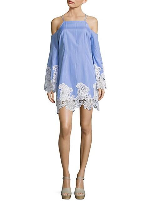 COSETTE   Olivier Cold-Shoulder Cotton Dress   Goxip