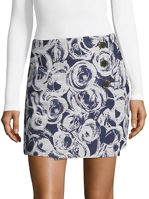 COSETTE | Juliette Printed Mini Skirt | Goxip