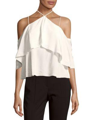 Cosette Cropped Silk Blouse