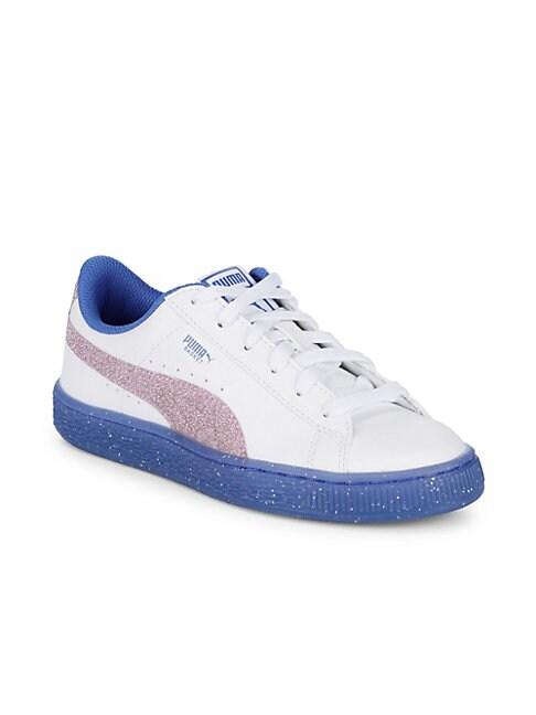 Girl's Basket Iced Glitter Sneakers