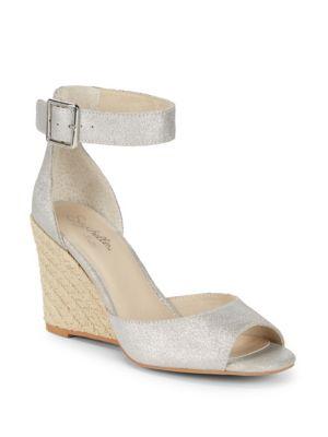 Seychelles  Metallic Espadrille Wedge Sandals