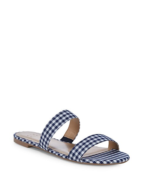 ALEX+ALEX | Tammy Gingham Two-Strap Flats | Goxip