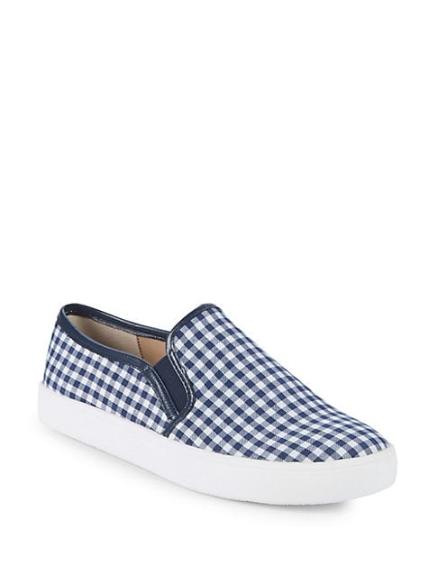 ALEX+ALEX | Trixie Gingham Slip-On Platform Sneakers | Goxip